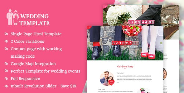 My Wedding - Wedding Invitation Template preview image