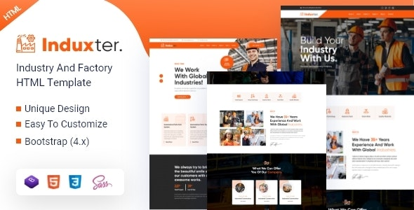 Induxter v1.0 - Industry And Factory HTML Template preview image