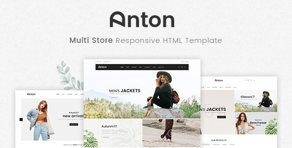 Anton v1.0 - Multi Store Responsive HTML Template preview image