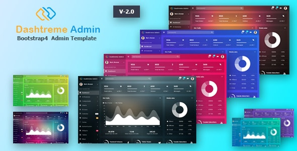 Dashtreme v2.0 - Multipurpose Bootstrap4 Admin Template preview image