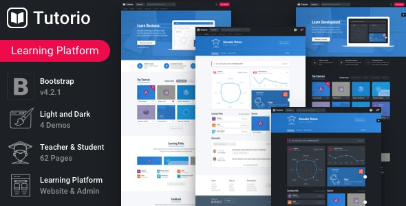 Tutorio v1.3.2 - Education Platform and Learning Management System preview image