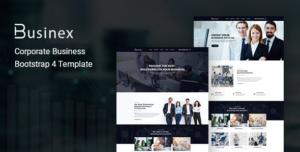 Businex v1.0 - Corporate Business Bootstrap4 Template preview image