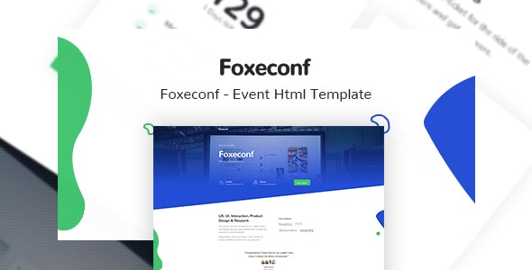 Foxeconf v1.0 - Event HTML Template preview image