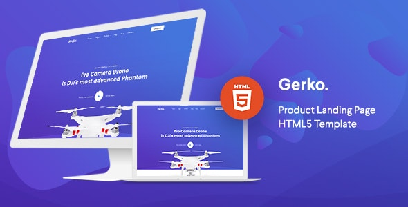 Gerko v1.0 - Product Landing Page Template with Bootstrap preview image
