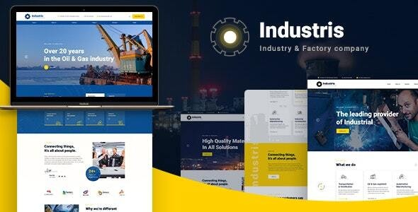 Industris v1.0 - Factory & Industrial HTML5 Template preview image
