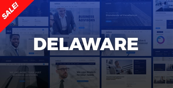 Delaware v1.0.0 - Corporate Company, Consulting HTML Template preview image