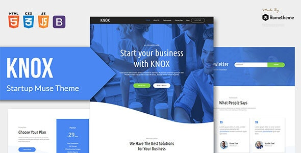 KNOX v1.0.0 - App Landing Page HTML Template preview image