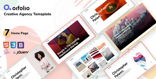 Oifolio v1.0 - Creative Agency Bootstrap Template preview image