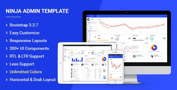 Ninja v2.0 - Responsive Admin Dashboard Template preview image