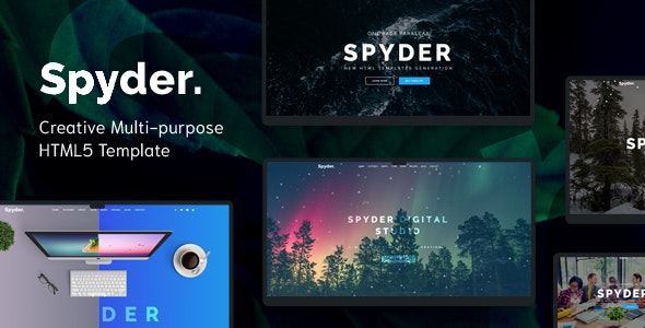 Spyder v1.0 - One Page Multipurpose HTML Template preview image