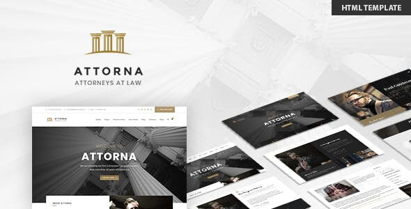 Attorna - Lawyer & Attorney HTML Template preview image