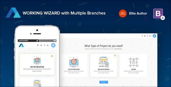 Steps v1.3 - Multipurpose Working Wizard with Branches preview image