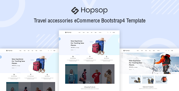 Hopsop - Travel Accessories HTML Template preview image
