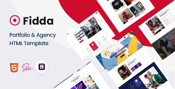 Fidda v1.0.0 - Portfolio & Agency HTML5 Template preview image