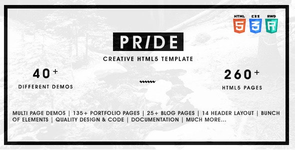 Pride v1.5.0 - Multipurpose HTML5 Template preview image