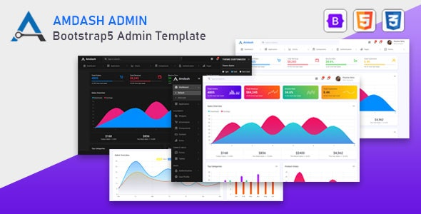 Amdash v1.0 - Bootstrap 5 Admin Template preview image