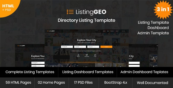 ListingGEO v1.1 - Directory Listing Template preview image