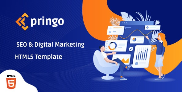 Pringo v1.0 - Digital Marketing Bootstrap 5 Template Product Image