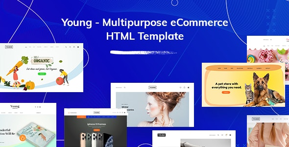 Young v1.0 - Multipurpose eCommerce HTML Template preview image