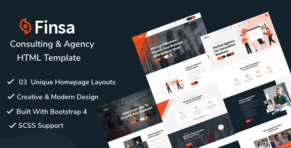 Finsa v1.0 - Consulting & Agency HTML Template preview image