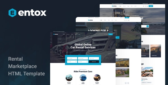 Entox v1.0 - Rental Marketplace HTML Template preview image