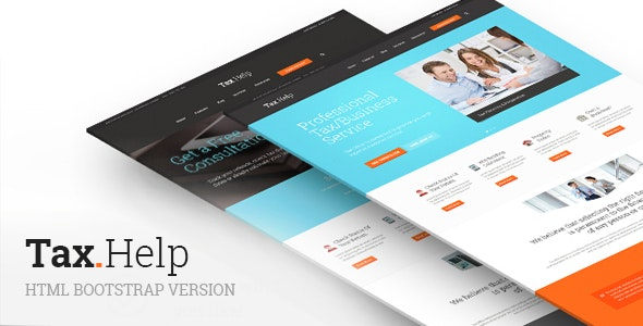 TaxHelp v1.0 - Finance & Accounting Site Template preview image