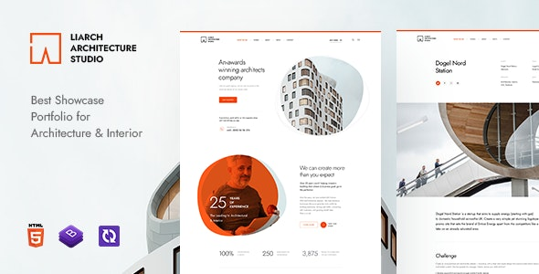Liarch v1.0 - Architecture & Interior HTML Template preview image