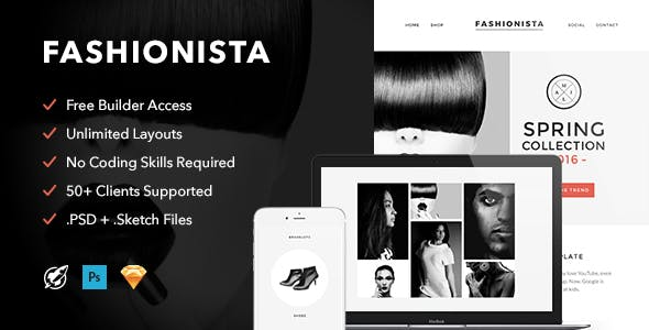 Fashionista v1.0 - Responsive Email + Themebuilder Access preview image