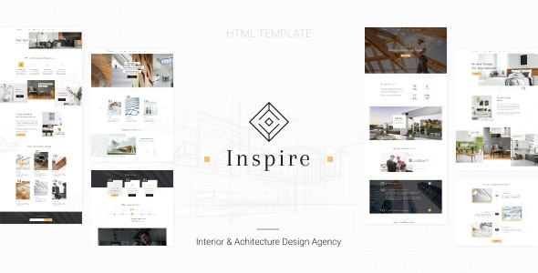 Inspire v1.0 - Interior and Architecture HTML Template preview image