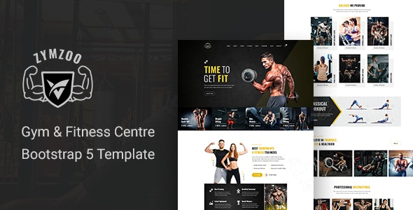 Zymzoo v1.0 - Gym & Fitness Centre Bootstrap 5 Template preview image