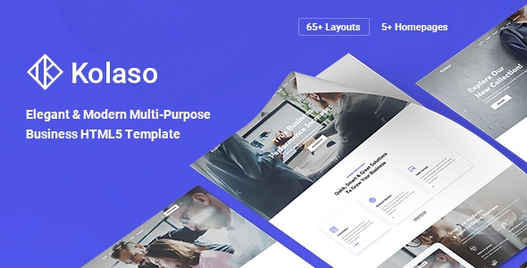 Kolaso v1.0 - Modern Multi-Purpose HTML5 Template preview image