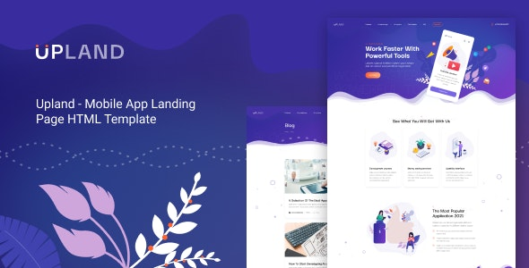 Upland v1.0 - Mobile App HTML Template preview image