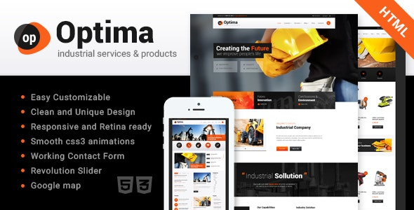 Optima v1.0 - Industrial Site Template preview image