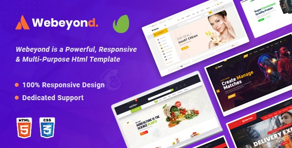 WeBeyond v1.0 - Multipurpose HTML5 Template Package preview image