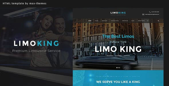 Limo King v1.0 - Car Hire Template preview image