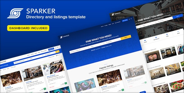 Sparker v1.5 - Directory and Listings Template preview image