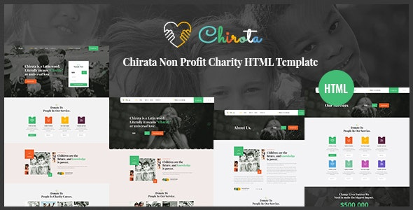 Chirota v1.0 - Non Profit Charity HTML Template preview image