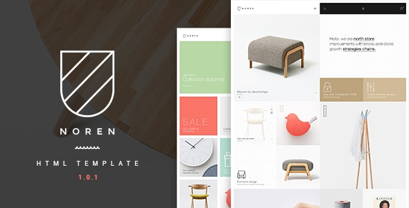Noren v1.0.1 - Multi Store Responsive HTML Template preview image