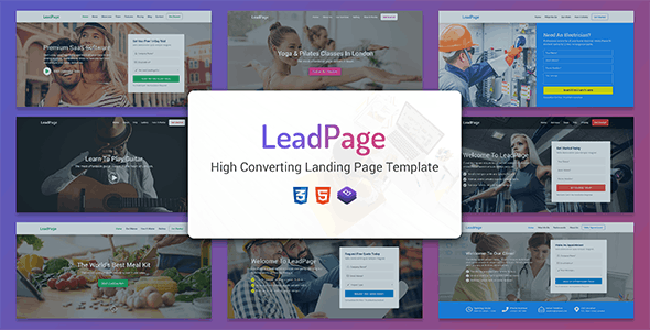 LeadPage v1.0 - Multipurpose Marketing HTML Landing Page Template preview image