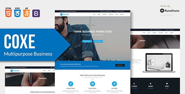COXE v1.0 - Corporate Multipurpose HTML Template preview image