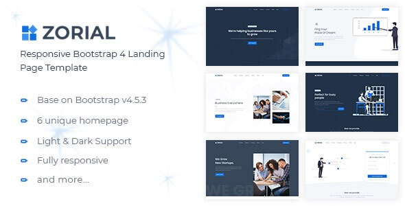 Zorial v1.0 - Landing Page Template preview image
