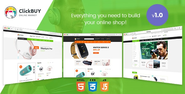 ClickBuy v1.0 - Multi Store Responsive HTML Template preview image