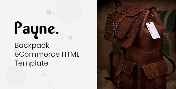 Payne v1.0 - Backpack eCommerce HTML Template preview image