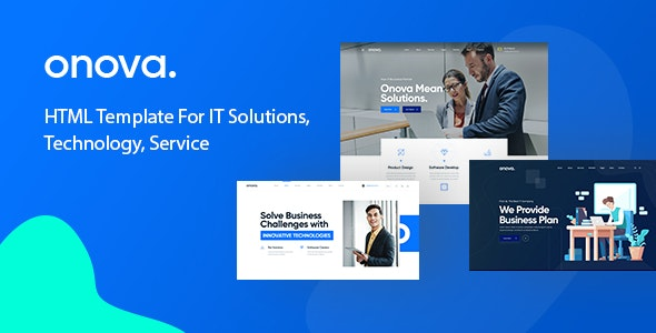 Onova v1.0 - Technology IT Solutions & Services HTML5 Template preview image