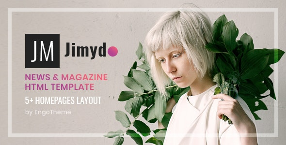 JIMYDO v1.0.0 – News & Magazine HTML Template preview image