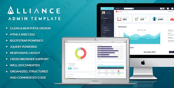 Alliance v1.2 - Responsive Bootstrap Admin Template preview image