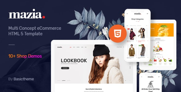 Mazia v1.0 - Clean Minimal eCommerce HTML5 Template Product Image