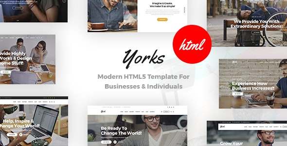Yorks v1.0 - Modern HTML5 Template For Businesses & Individuals preview image
