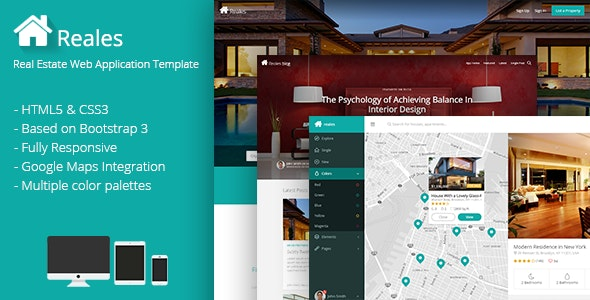 Reales v1.0 - Real Estate Web Application Template Product Image
