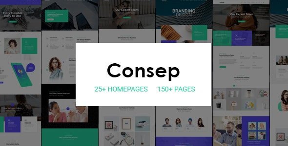 Consep v1.0 - Responsive Multi-Purpose HTML5 Template preview image